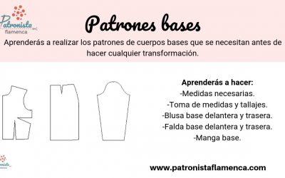 Cuerpos bases; blusa, falda y manga.