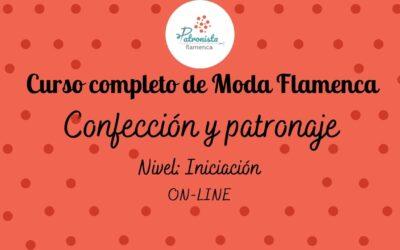 Moda Flamenca iniciación ANUAL Corte y confección