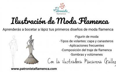 Ilustración de Moda Flamenca