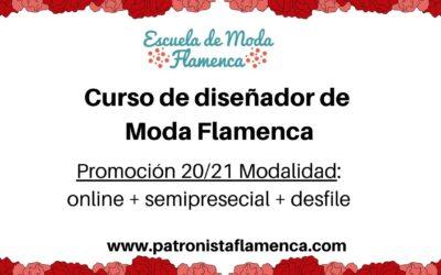 Curso de Diseñador de Moda Flamenca semipresencial+desfile