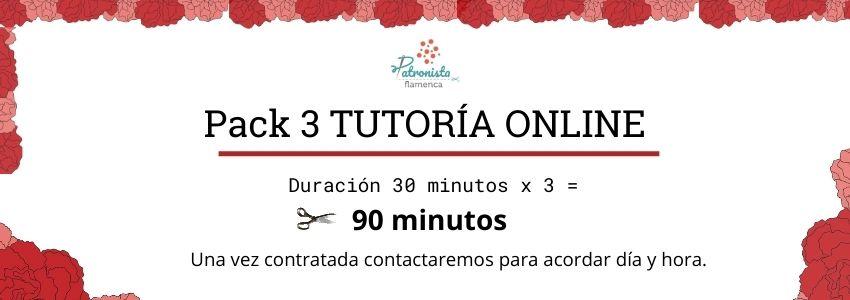 Pack de 3 tutorías online