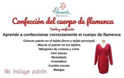 Confección del cuerpo de flamenca